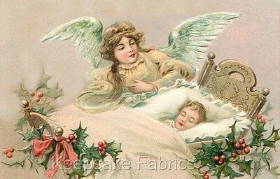 Christmas Angel Baby Crazy Quilt Block FrEE ShiPPinG WoRld WiDE (C2 c