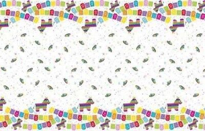 MEXICAN FIESTA PLASTIC TABLE COVER ~ Birthday Party Supplies Cloth Cinco de Mayo - Fiesta Birthday Party