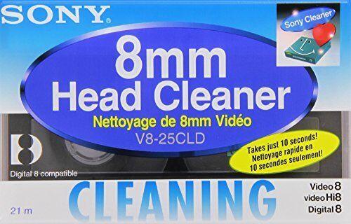 Sony Head Cleaning Cassette For Hi8/ Digital 8/ 8 mm Video V825CLD JAPAN