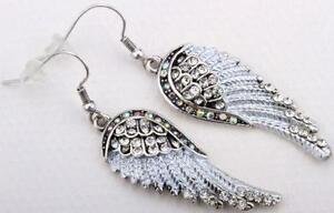 Crystal Angel Wing Earrings
