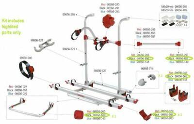 Fiamma Portabicicletas Pro Repuestos Plástico Paquete Negro Para Caravana Rack