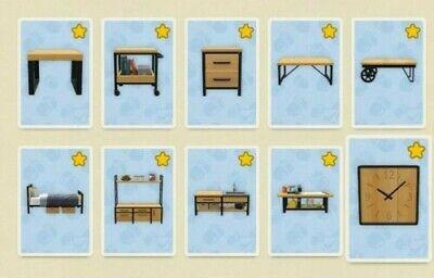 Animal Crossing New Horizons Ironwood 10 DIY/Recipe Set+Cutting Board DIY/Recipe