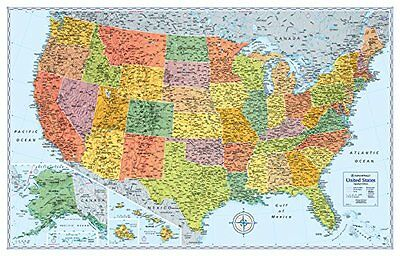 Map Of The United States Of America 50  X 32  Poster Rand Mcnally Signature Usa