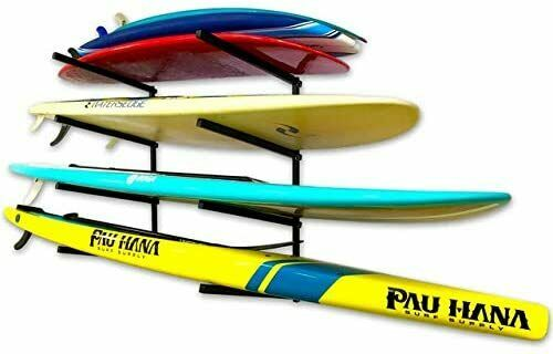 StoreYourBoard 4 Paddleboard Storage Rack, Adjustable Wall Mounted SUP Organizer