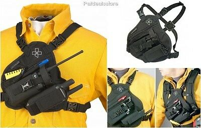 Radio Strap And Holder Chest Harness Holster Scout Walkie Talkie Rig Pack Phones