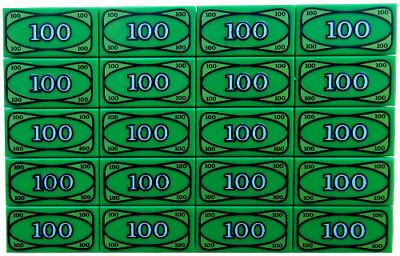20 NEW LEGO $100 BILLS 1x2 green printed tiles dollar bill lot accessories money - Green Accessories