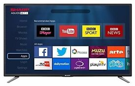 Sharp LC-32CHE6131K 32-Inch Widescreen 720p HD Ready LED Smart TV with Freeview