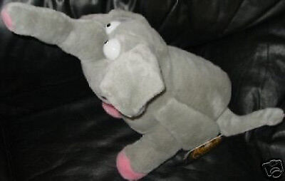 """MEANIES AT LARGE """"BART the ELEPHART"""" Large 17"""" PLUSH MWMT Elephant FUN SPOOF!"""