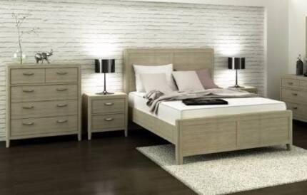 BEAUTIFUL HARDWOOD BEDROOM SUITE - WHOLESALE CLEARANCE