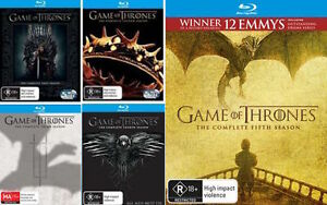Game Of Thrones : SEASONS 1 2 3 4 5 : NEW Blu-Ray