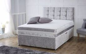 CRUSH VELVET DIVAN BEDS