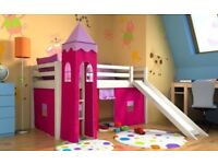 Girls children bed with mattress and SLIDE