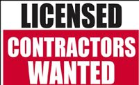 LICENSED AND INSURED CONTRACTORS WANTED