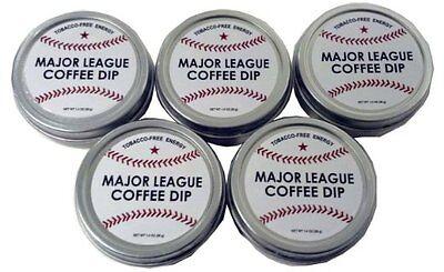 5 Pack Baseball Energy Snuff Ground Coffee Beans Tobacco Free mlb nhl Yankees