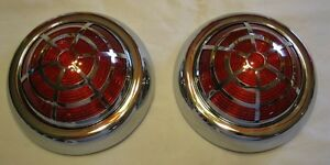 SPIDER OVERLAY 1950 Pontiac Vintage Style LED Tail Lights With SPIDER OVERLAY