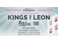 2 Kings of leon bst hyde park tickets