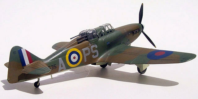 73 inch Scale  Boulton Paul Defiant  RC AIrplane Printed Plans & Templates