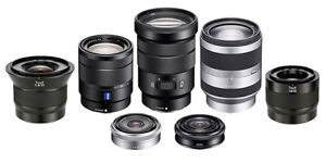 Looking for E-mounted lenses you want to dispose