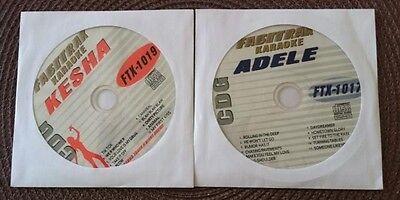 2 Cdg Discs Karaoke Lot Hits Of Adele   Kesha Ftx 1017 1019 Cd G Songs Music
