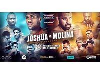 2X Joshua vs Molina tickets block 112 row T seat 9 and 10