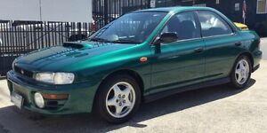 1997 Subaru Impreza WRX MANUAL Green 5 Speed Manual Sedan Underwood Logan Area Preview