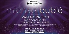 Michael Buble BST Hyde Park Fri 13th July