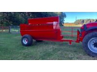 As new side spreader - muck spreader - tractor implement - farm machinery