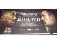 2x Anthony Joshua vs Carlos Takam (was pulev) tickets