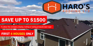 Save Up to $1500 OFF on ROOFING - Free Estimate HARO'S ROOFING
