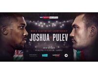 4 x Anthony Joshua v Pulev Tickets CARDIFF