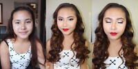 Prom & Wedding Makeup Artist & Hair Stylist for HIRE