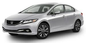2013 Honda Civic Sdn Touring - Leather, Sunroof & Navigation