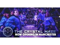 2x tickets to Crystal Maze Experience Manchester