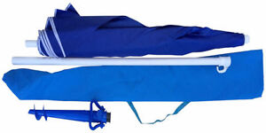 Brand New Beach Umbrella with bag and sand anchor Complete