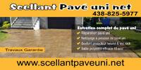 Réparation pavé uni / Restauration sable polymère