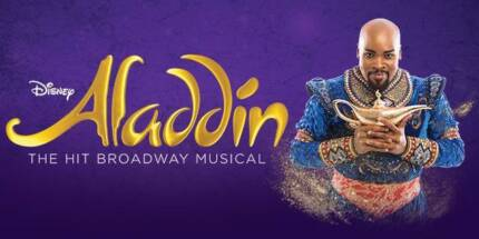 Aladdin the musical Melbourne 1pm Wednesday 18th Oct BEST SEATS