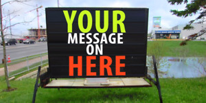 Outdoor Mobile Portable  Sign Rental Saint John NB