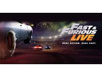 2 x Fast & Furious Live Show Tickets 19th Jan for Sale at 02 London