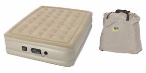 REDUCED! Serta Raised Queen Air Bed with Never Flat Pump (tan)