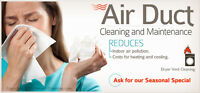 AIR FRAIS DUCT CLEANING rates start form $85 Call 905 867 9000