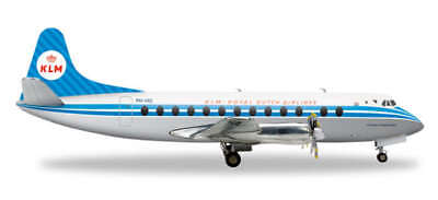 HE556576 HERPA WINGS KLM ROYAL DUTCH AIRLINES VICKERS VISCOUNT 800 1/200 MODEL for sale  Kansas City