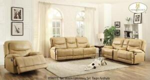 3pc Recliner Set in Taupe Airehyde MA10 8599TPEUP (BD-1397)