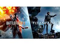 Ps4 Battlefield 1 and Titanfall 2