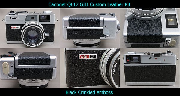 как выглядит For Canon Canonet QL17 Glll Pre-cut Replacement Leather seal Black from Japan фото