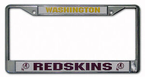 Washington Redskins Metal Chrome License Plate Frame Auto Truck Car NFL