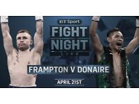 2x Carl frampton tickets for sale £225 face value