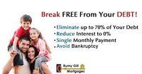 Pay Less & Be Debt Free! No Bankruptcy and No Consumer Proposal!