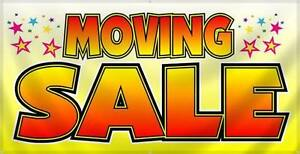 Big indoor moving sale