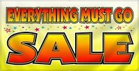 YARD SALE EVERYTHING MUST GO!