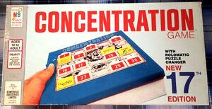 Vintage Milton Bradley Concentration Board Game, 1972 Edition